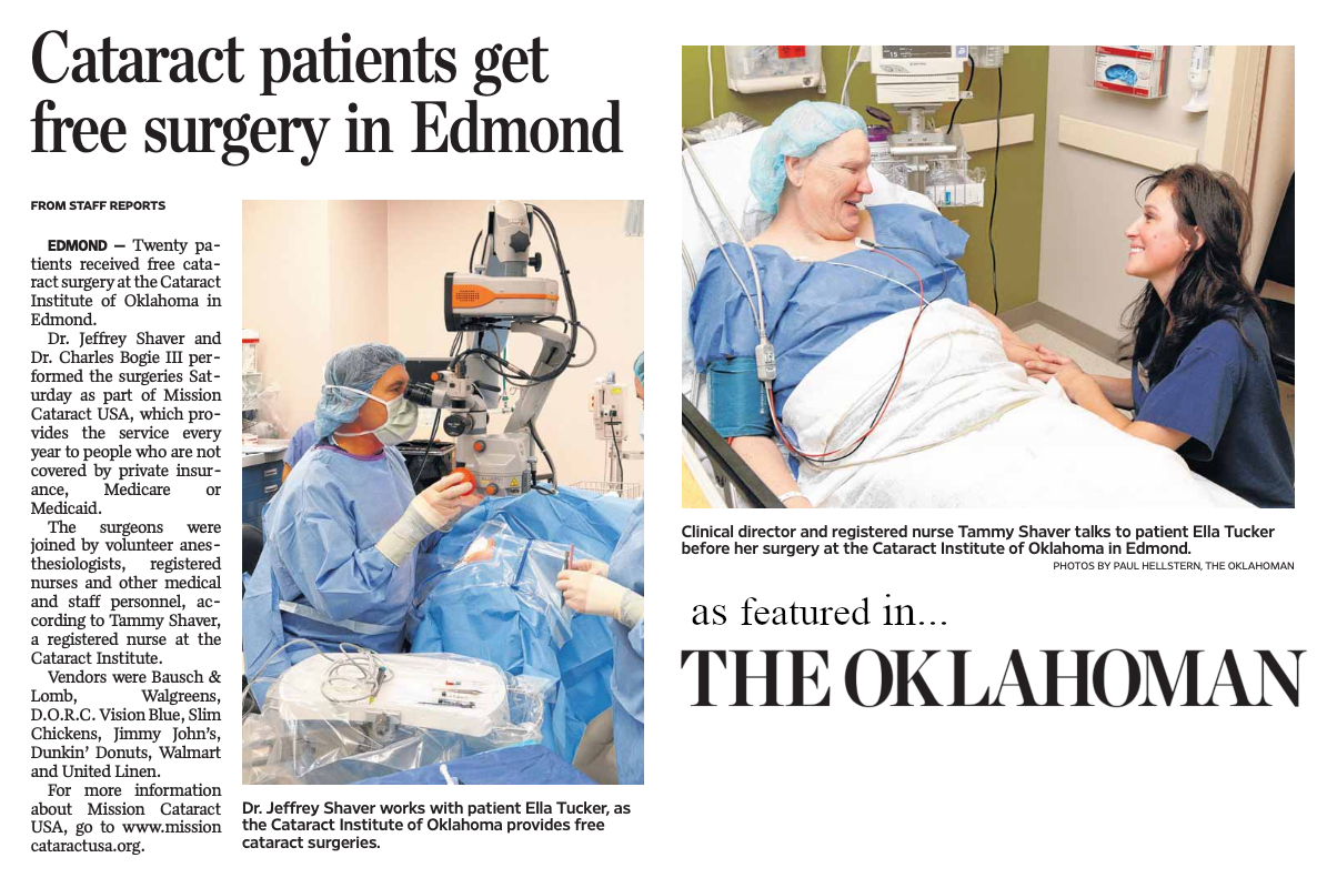 Mission Cataract Charity Clipping (slideshow)